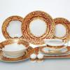 Столовый сервиз на 6 персон Falkenporzellan Natalia bordeaux gold 25 предметов